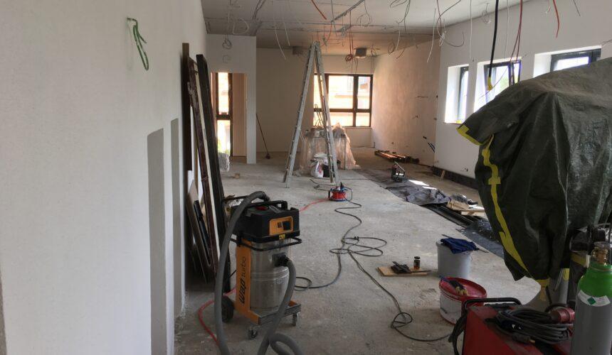 Fortschritte am Bau: Jugendraum