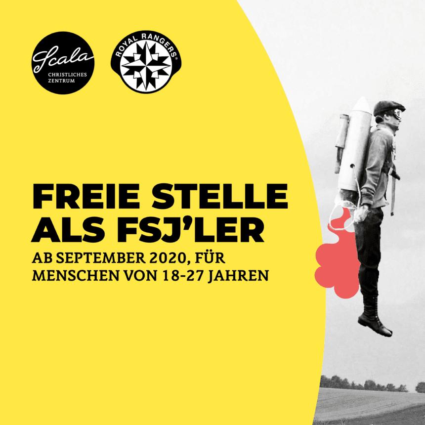 Freie Stelle als FSJ'ler ab September 2020