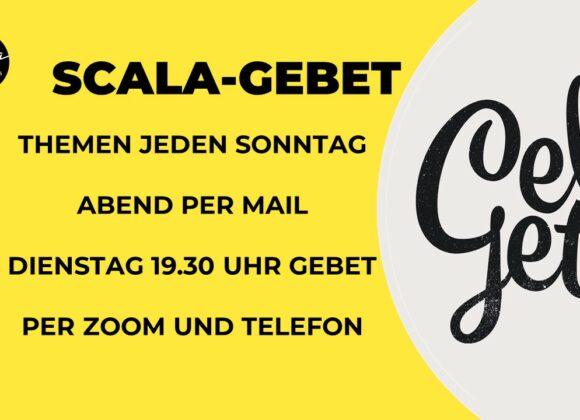 Gebetsabend in der Scala, per zoom und Telefon – Dienstag 19:30 Uhr